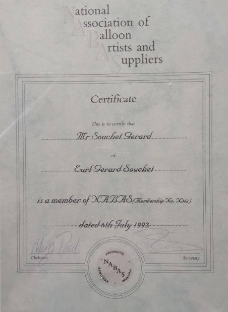 1993 - Reconnaissance professionnelle en Angleterre