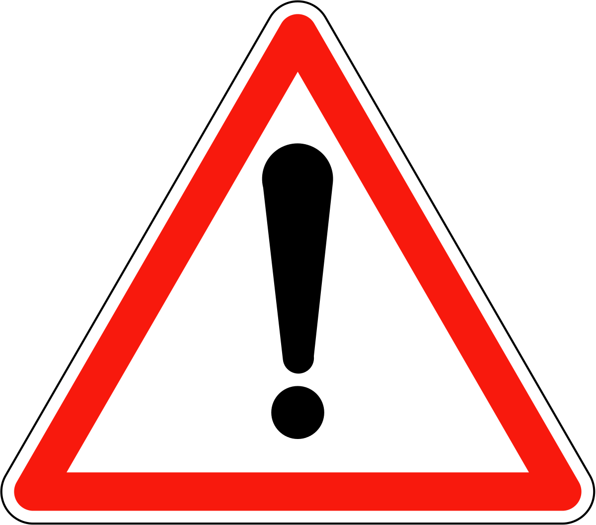 France road sign A14 svg