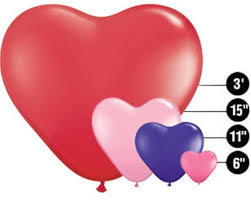 qualatex heart shape balloons 1